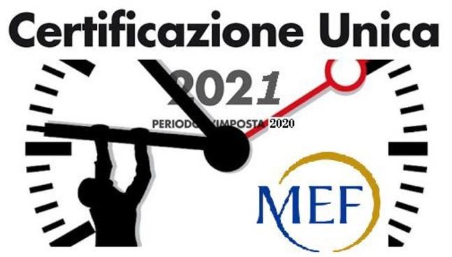 Certificazioni Uniche 2021: slittamento dei termini